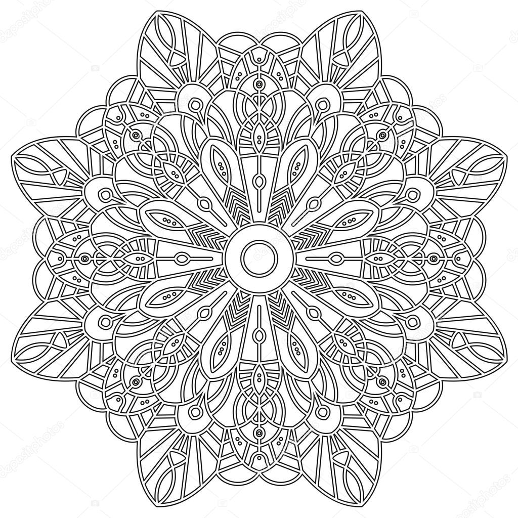Coloring Page With Mandala Stock Vector C Hakabachan Gmail Com