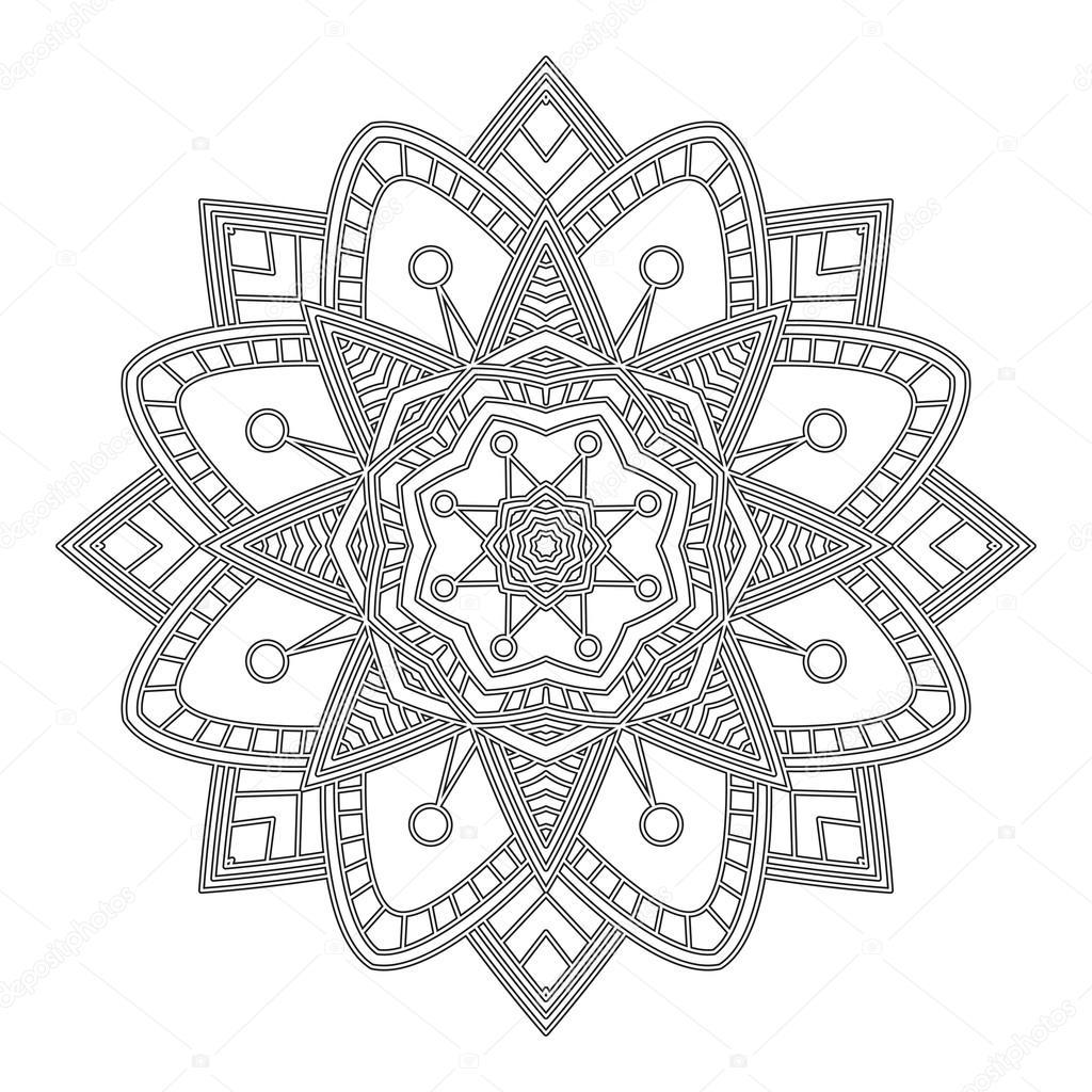 Página para colorear de mandala — Archivo Imágenes Vectoriales ...