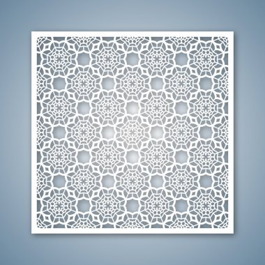 Laser cutting template for greeting cards