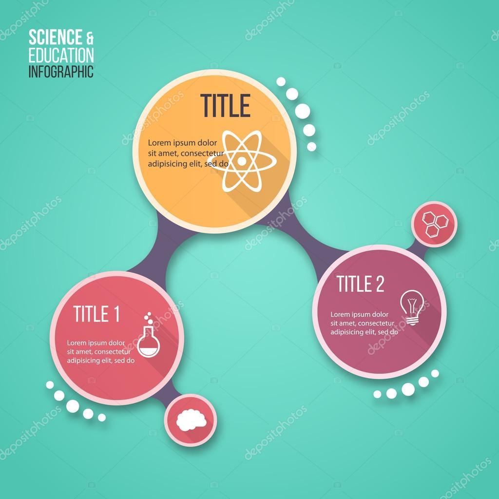 Plantilla de infografía molécula diseño vector para otras ...