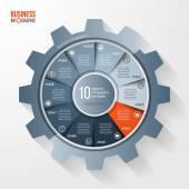 Průmyslu a vektorové zařízení styl kruhu infographic šablona