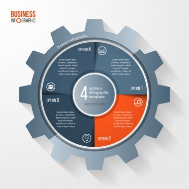 Vector business and industry gear style circle infographic template