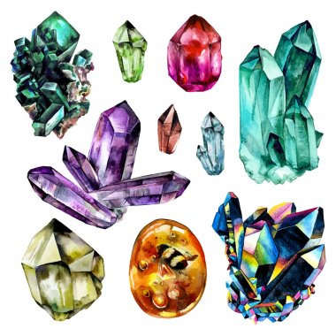 Watercolor Gems collection