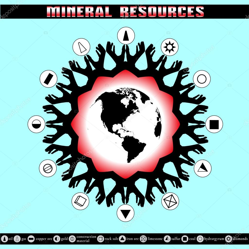 Earth Day. Destruction of mineral reserves.