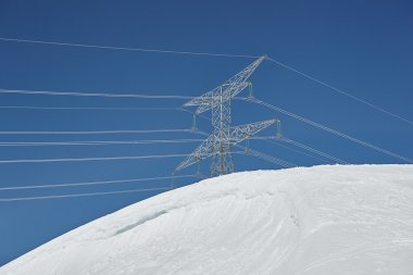 power line. March of the French Alps.