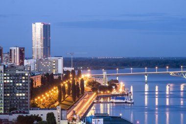 Embankment city of Saratov