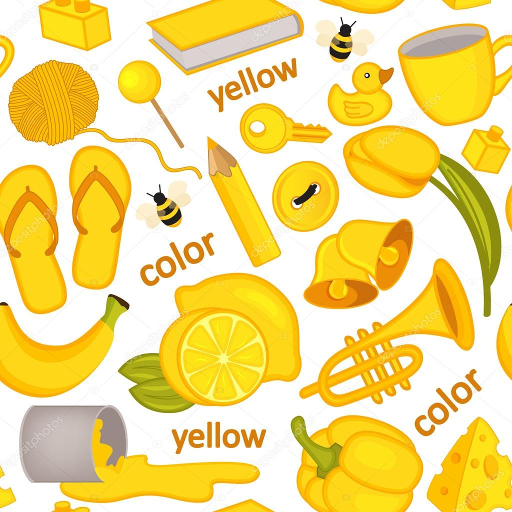 Mini Surprise Créative - PL - Jaune! - Page 2 Depositphotos_104027992-stock-illustration-seamless-pattern-with-yellow-objects