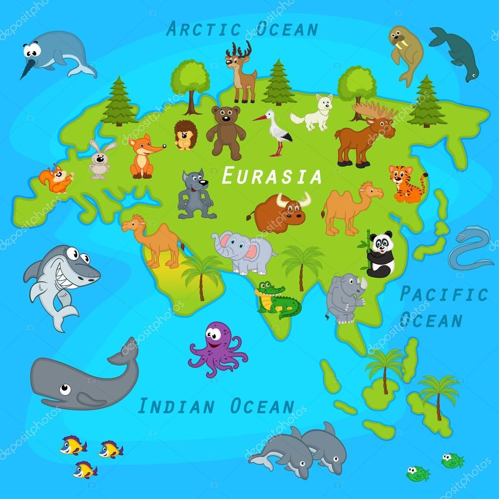 Карта Евразии Скачать - фото 9