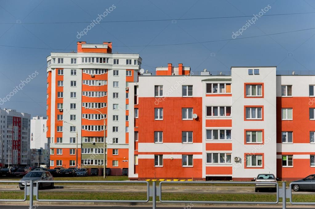 Coloful panel houses in Gomel city, Belarus  — Stock Photo