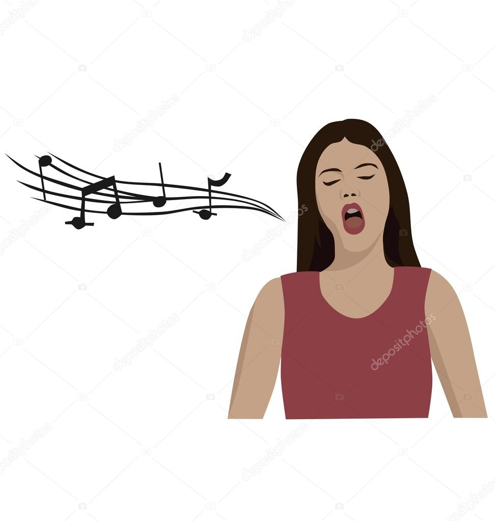Cantare Lopera Donna Vettoriali Stock Jazzanna 103189610