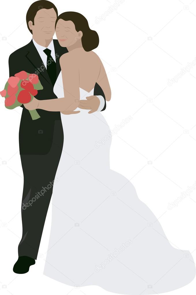 Hochzeit Paar Clipart Stockvektor C Jazzanna 108319672