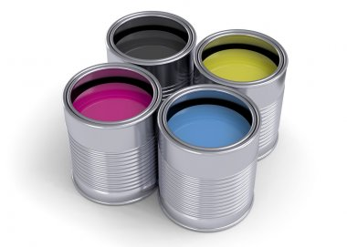 Cans of CMYK Colors