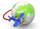 Volare intorno al concetto di mondo - 3d