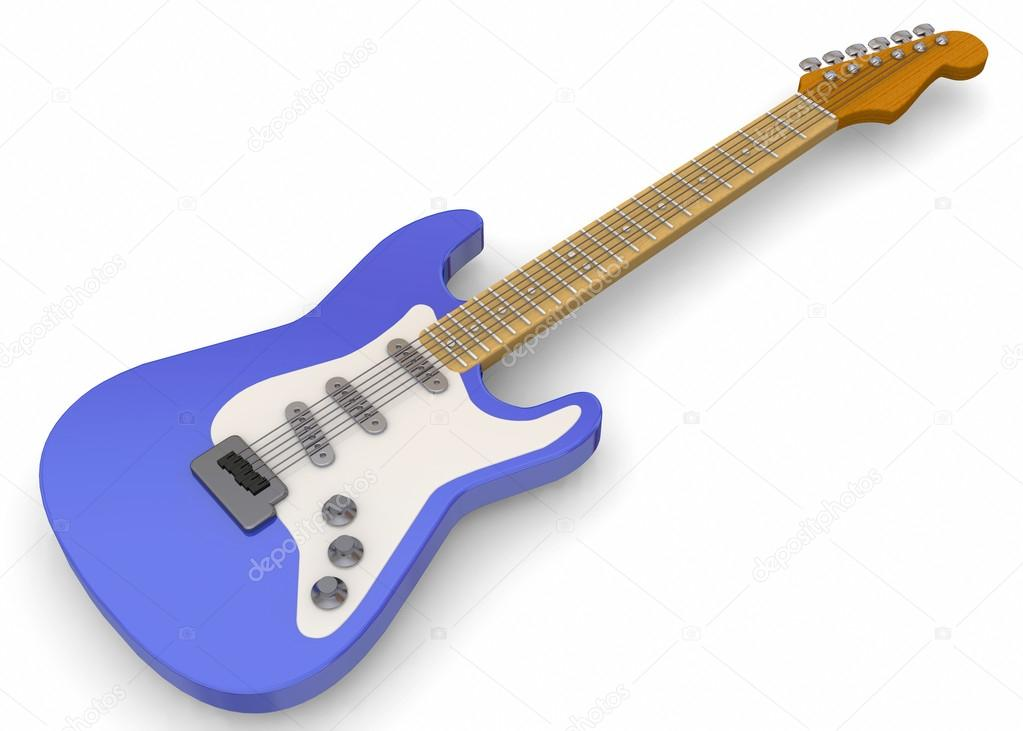 E-Gitarre - 3d — Stockfoto © gmac84 #98317478