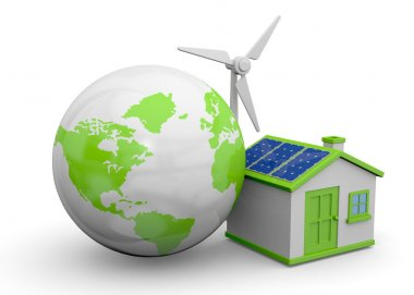 World and Renewable Energies - 3D