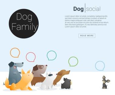 Animal banner with Dog for web design 2, vector , illustration