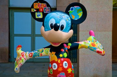 A colorful Mickey Mouse