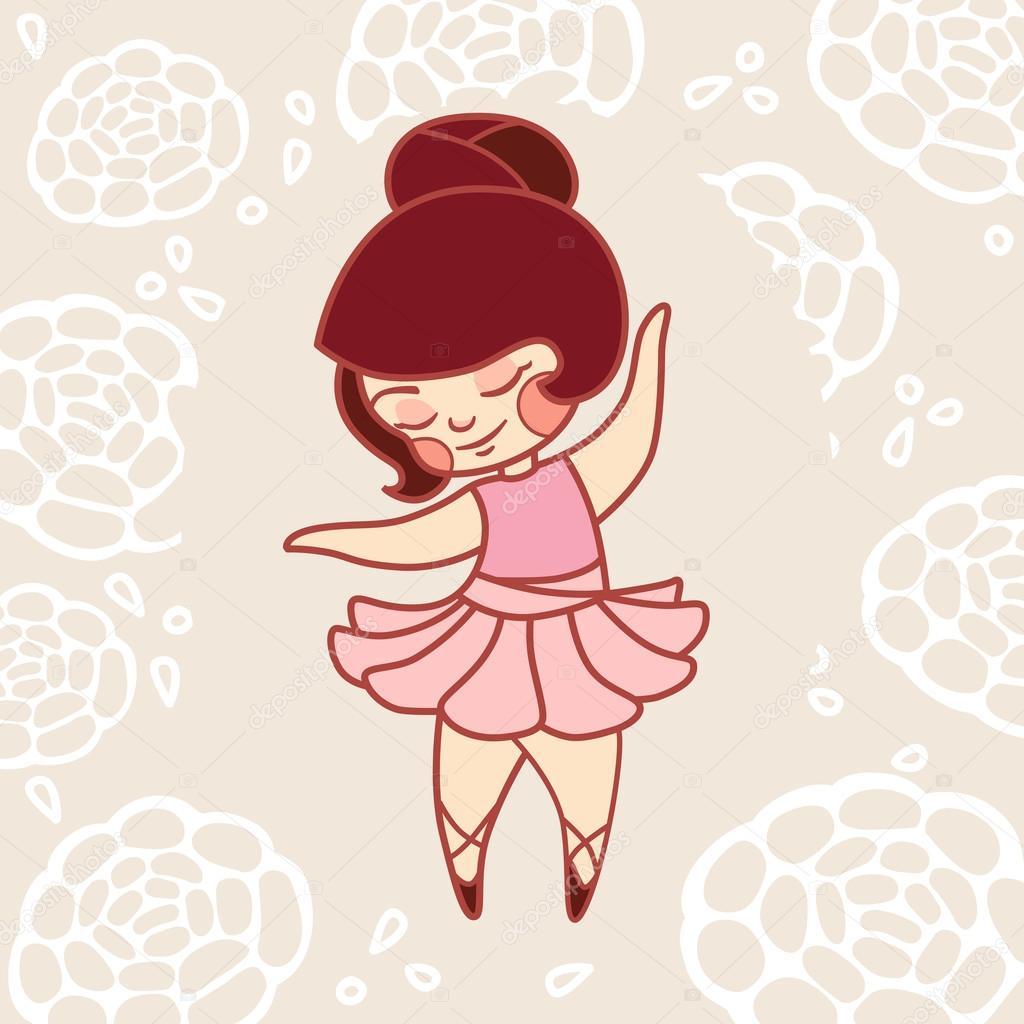 Niña bailando ballet en un vestido rosa — Archivo Imágenes ...
