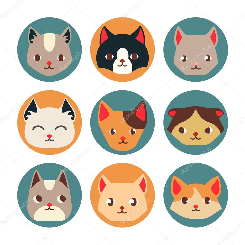 Cat And Dog Illustrator Icons