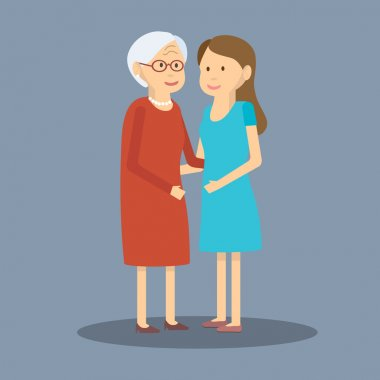 Adult Daughter and Elderly Mother