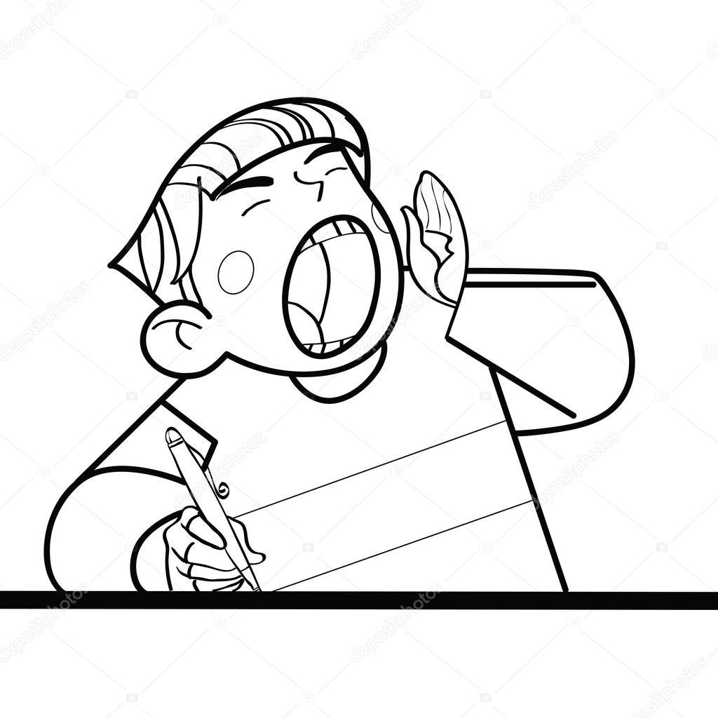 Imágenes Personas Gritando Caricatura Gritos Del Estudiante En