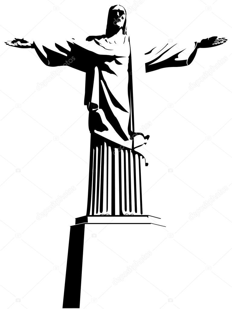Dessin Christ Redempteur christ rédempteur est une statue de style art déco de jésus-christ à