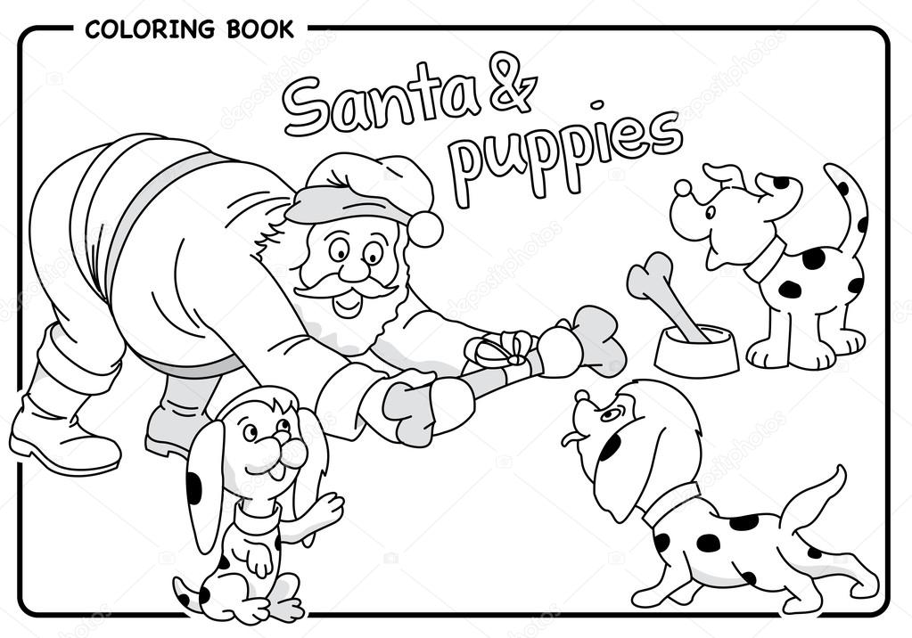 Noel Baba Bir Kemik Kukla Için Verdiği Yılbaşı Boyama çizmek