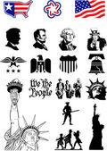 USA symboly - sada ikon