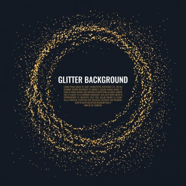 Golden glitter background.