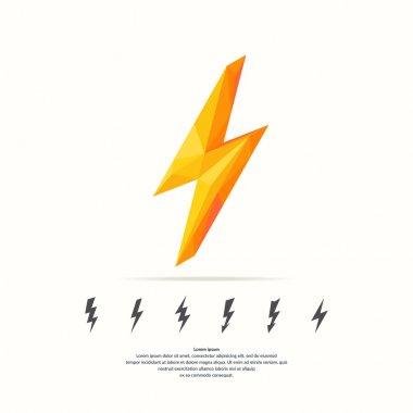 Lightning in polygonal style.
