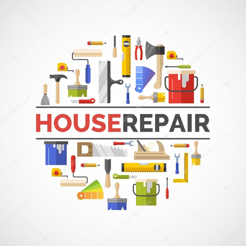 Building and house repair tools.