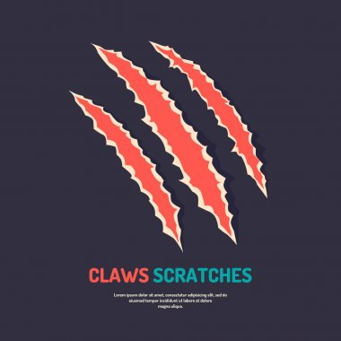 Isolated vector claws scratches.