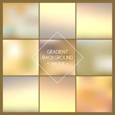 Set. Blurred backgrounds