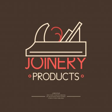 Joinery products. Logo carpentry workshop