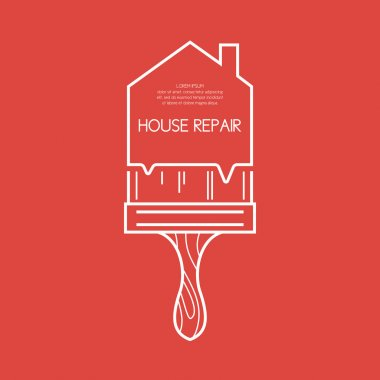 House repair. Element and icon