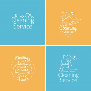 Set. Cleaning service