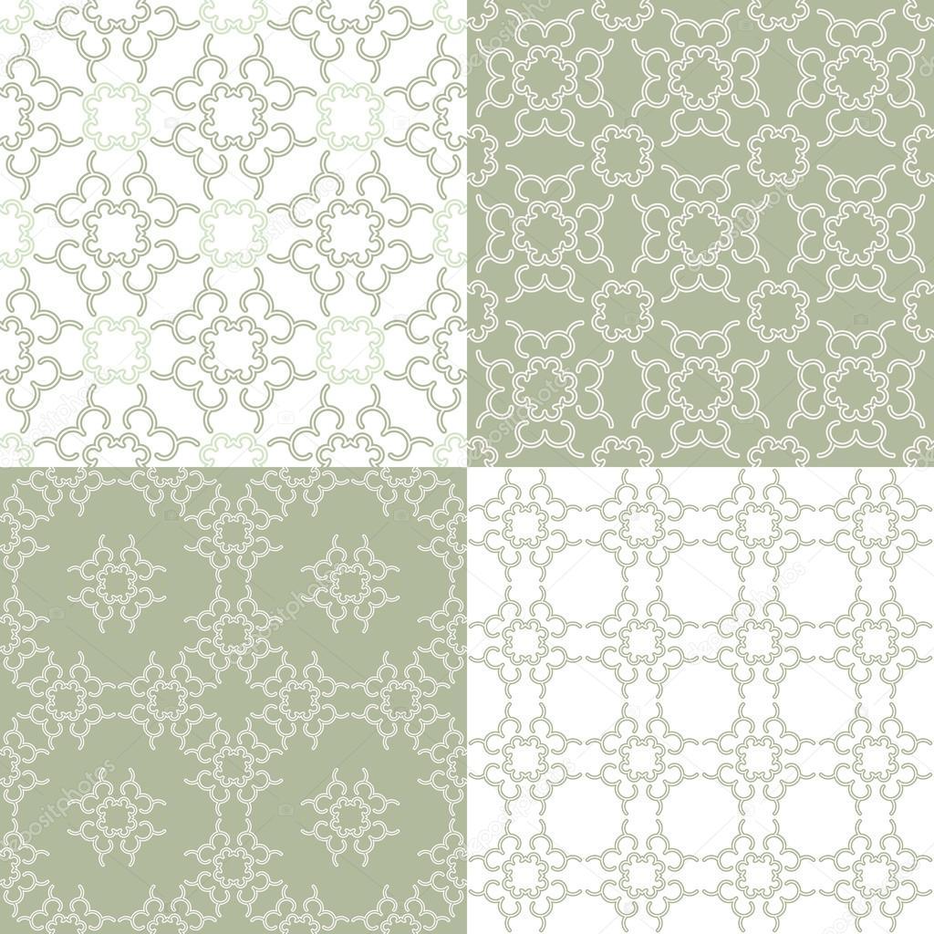 Patrones geométricos sin costura lineales — Archivo Imágenes ...