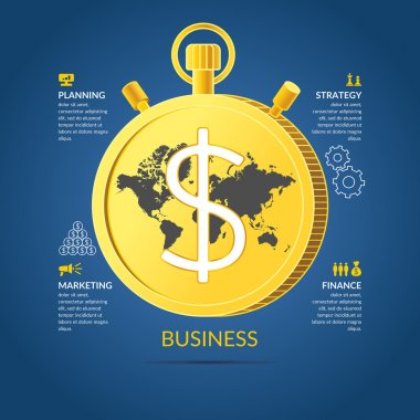 Business infographics. Icons and illustrations for design