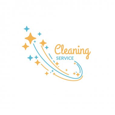 Cleaning service. The logo of the company