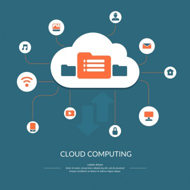 Cloud computing infographics.