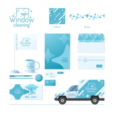Corporate identity. Cleaning service.