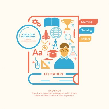 Education infographic in flat style.