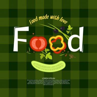 Food. Illustration for design