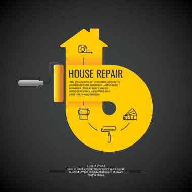 House repair. A colorful poster