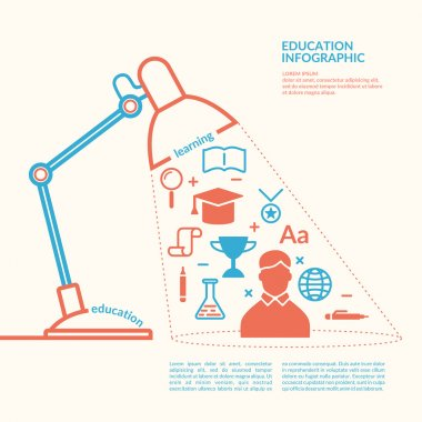 Education infographics. Icons and illustrations for design