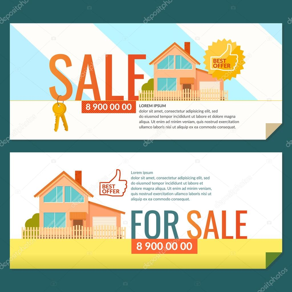 The ad posters. Sale of real estate.