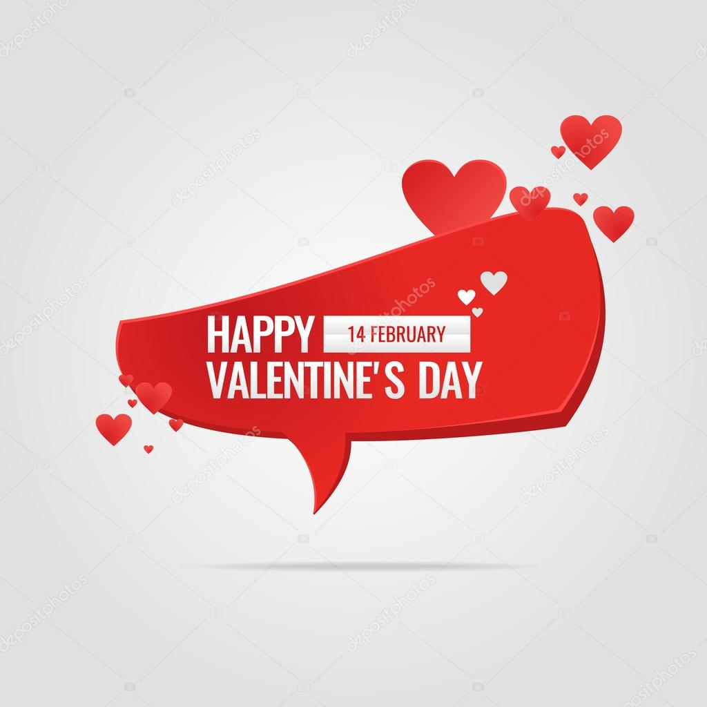 Valentine's day. February 14. Original and conceptual poster with a love message. Vector illustration. stock vector