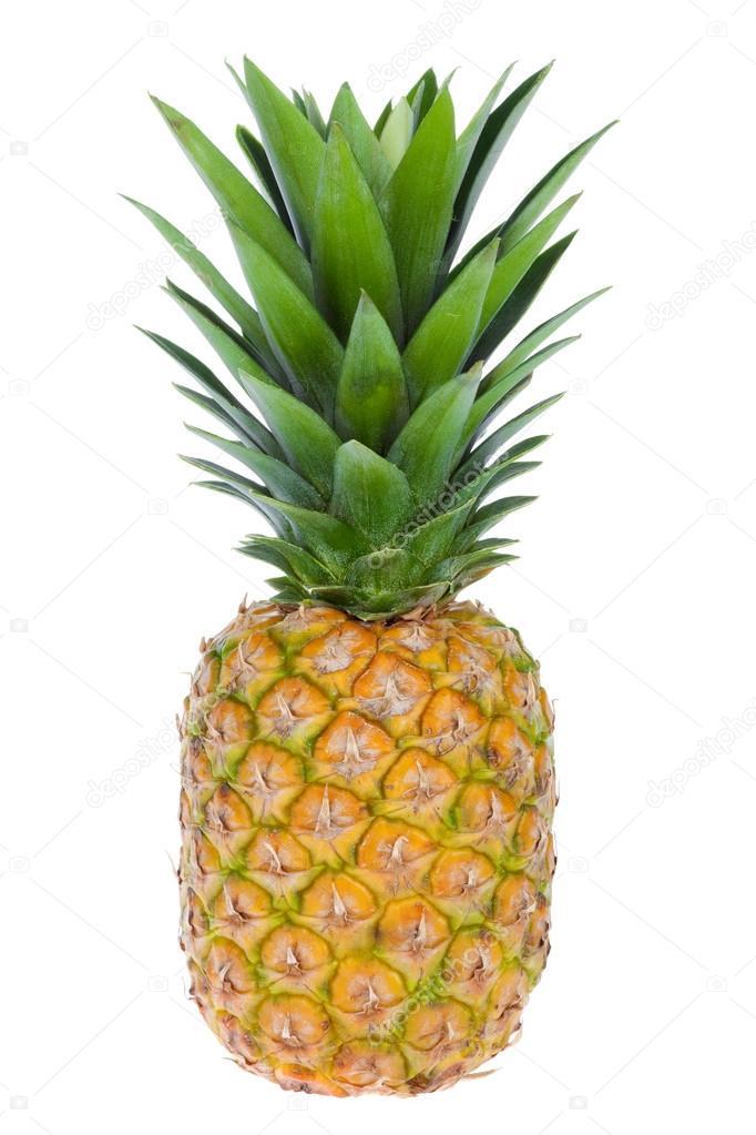exotic fruit ananas isolated on white