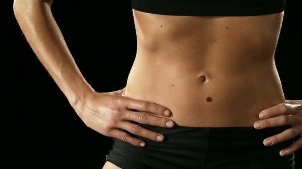Sportovní žena s svalnaté tělo