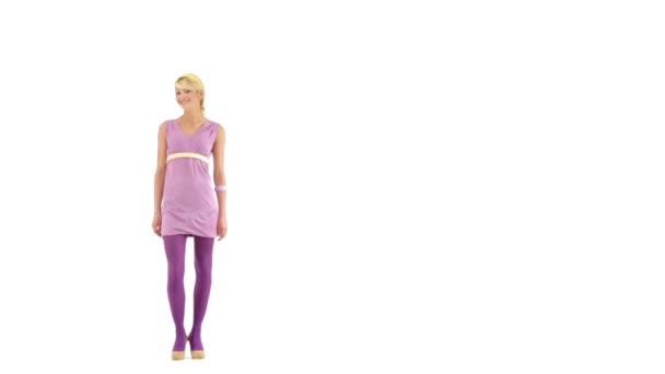 Blonde wearing pink video — 9